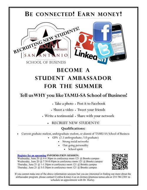 Recruit flyer-student ambassador