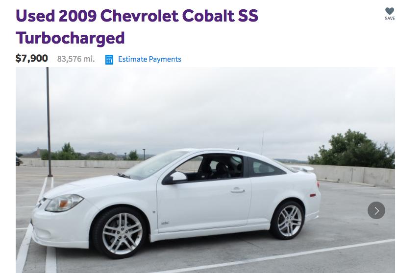 Chevy Cobalt 2016 >> Professor Elam My Chevy Cobalt Ss For Sale